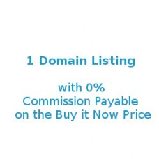 1 Domain Listing @ 0% Commission