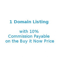 1 Domain Listing @ 10% Commission