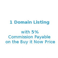 1 Domain Listing @ 5% Commission